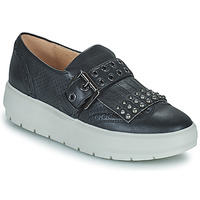 Shoes Women Low top trainers Geox KAULA Black