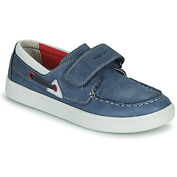 Shoes Children Loafers Geox DJROCK GARCON Blue