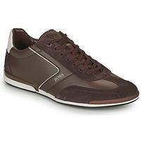 Shoes Men Low top trainers BOSS SATURN LOWP ITAL Brown