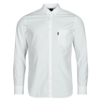 Clothing Men Long-sleeved shirts BOSS MAGNETON White