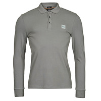 Clothing Men Long-sleeved polo shirts BOSS PASSERBY Grey