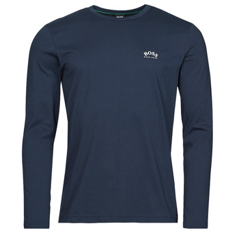 Clothing Men Long sleeved tee-shirts BOSS TOGN CURVED Marine