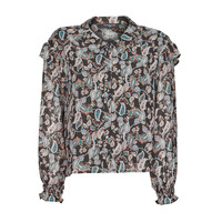 Clothing Women Tops / Blouses Betty London OCARA Black / Multicolour