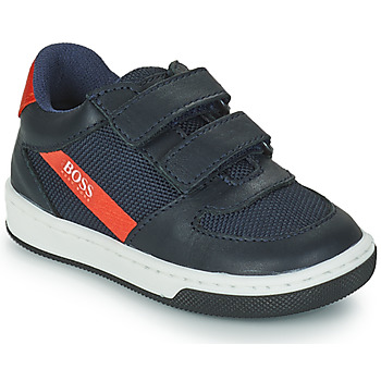 Shoes Boy Low top trainers BOSS NETTY Marine / Red