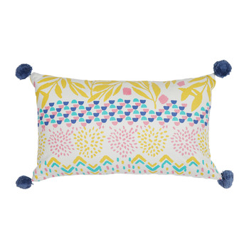 Home Cushions Jardin d'Ulysse BOH-FLEUR White