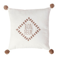 Home Cushions Jardin d'Ulysse BONHEUR White