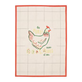 Home Tea towel Jardin d'Ulysse CODETTE White