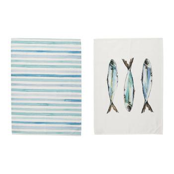 Home Tea towel Côté Table RIVIERE White
