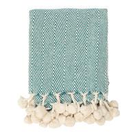 Home Blankets, throws Sema LOUISA Blue / Emerald