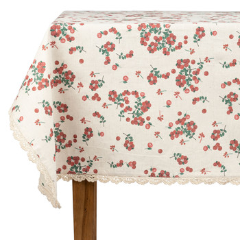 Home Tablecloth Comptoir de famille GROSEILLE White