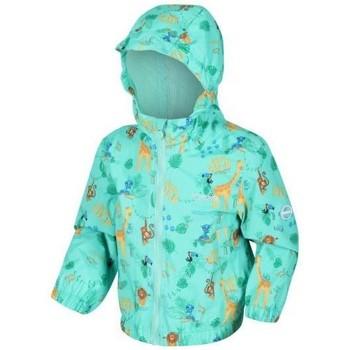 Clothing Children Coats Regatta ELLISON Waterproof Shell Jacket Green