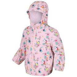 Clothing Children Coats Regatta ELLISON Waterproof Shell Jacket Pink