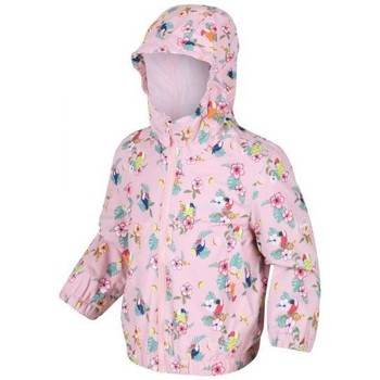 Clothing Children Coats Regatta ELLISON Waterproof Shell Jacket Pink