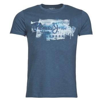 Clothing Men Short-sleeved t-shirts Pepe jeans GOLDERS Blue