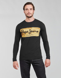 Clothing Men Long sleeved tee-shirts Pepe jeans CHARING LS Black