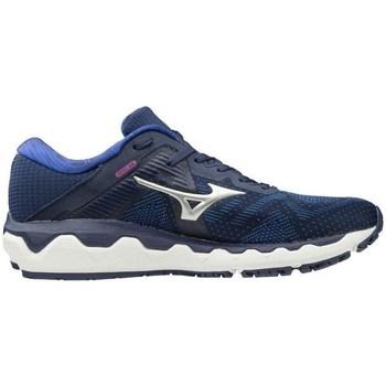 Shoes Women Low top trainers Mizuno Wave Horizon 4 Navy blue