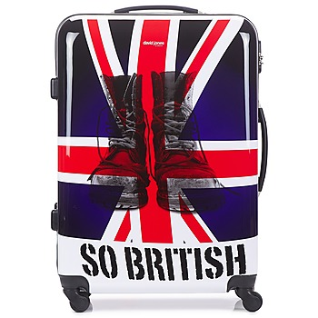 David Jones  UNION JACK L  mens Hard Suitcase in Multicolour