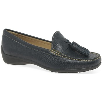 Shoes Women Loafers Charles Clinkard Natalia Womens Tassel Moccasins blue