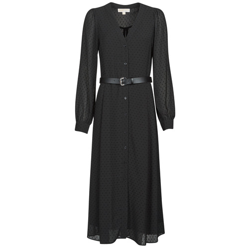 Clothing Women Long Dresses MICHAEL Michael Kors CRINKLE DOTS KATE DRS Black