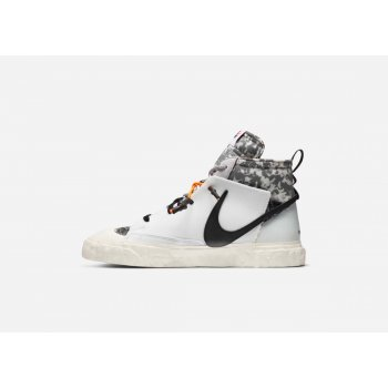 Shoes Hi top trainers Nike Blazer Mid x Readymade White White/Vast Grey-Volt-Total Orange