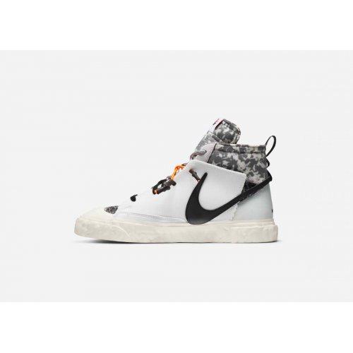 Shoes Hi top trainers Nike Blazer Mid x Readymade White White/Vast Grey-Volt-Total Orange