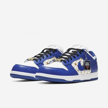 Shoes Low top trainers Nike SB Dunk Low x Supreme Hyper Blue White/Metallic Gold/Hyper Blue
