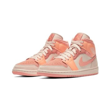Shoes Hi top trainers Nike Air Jordan 1 Mid Apricot Orange Atomic Orange/Apricot Agate/Terra Blush