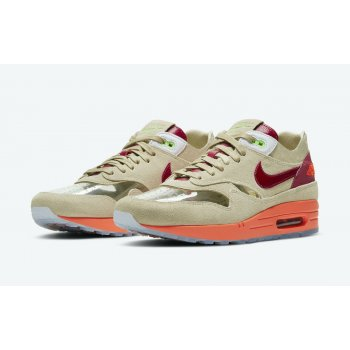 Shoes Low top trainers Nike Air Max 1 x Clot Kiss Of Death Net/Deep Red-Orange Blaze