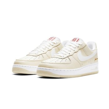 Shoes Low top trainers Nike Air Force 1 Low Popcorn Coconut Milk/White-University Red