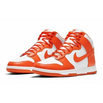 Shoes Hi top trainers Nike Dunk High Syracuse White/Orange Blaze