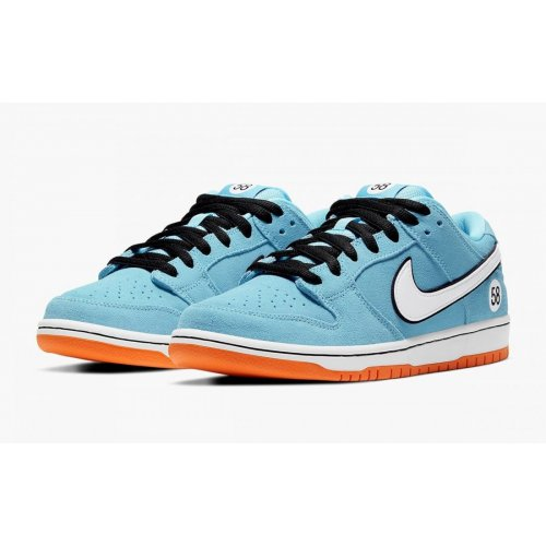 Shoes Low top trainers Nike SB Dunk Low Gulf Blue Chill/Safety Orange-Black-White