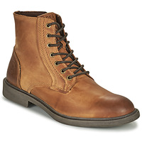 Shoes Men Mid boots Jack & Jones JFW KARL LEATHER BOOT Cognac