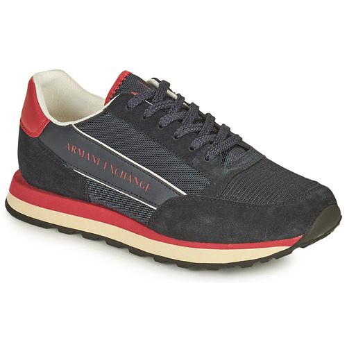 Shoes Men Low top trainers Armani Exchange KAMILA Black / Red