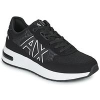 Shoes Men Low top trainers Armani Exchange MALIKA Black / White