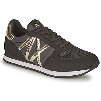 Shoes Women Low top trainers Armani Exchange HALOISE Black / Gold