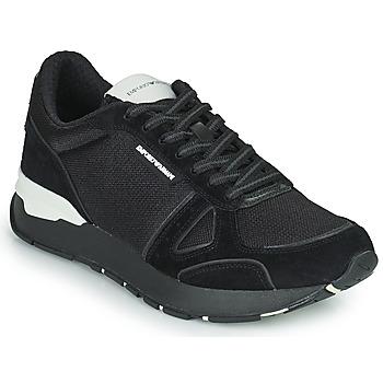 Shoes Men Low top trainers Emporio Armani BALISTA Black