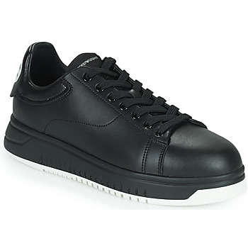 Shoes Men Low top trainers Emporio Armani ANITY Black