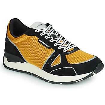 Shoes Men Low top trainers Emporio Armani TREMMA Black / Yellow