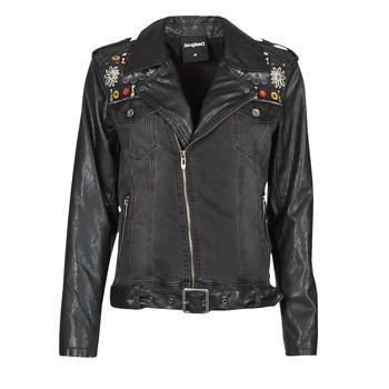Clothing Women Leather jackets / Imitation leather Desigual MERX Black