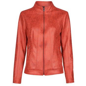 Clothing Women Leather jackets / Imitation leather Desigual COMARUGA Red