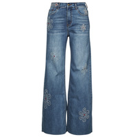 Clothing Women Bootcut jeans Desigual OH MY FLOWER Blue
