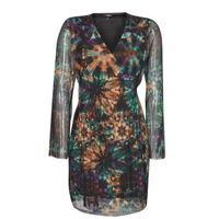 Clothing Women Short Dresses Desigual BAKER STREET Multicolour