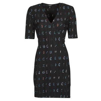 Clothing Women Short Dresses Desigual SOLE Black