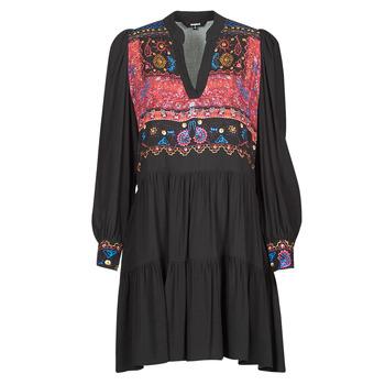 Clothing Women Short Dresses Desigual SOLSONA Black
