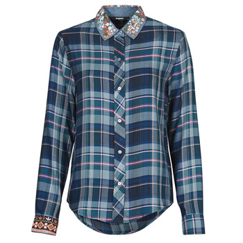 Clothing Women Shirts Desigual SUSAN SONTAG Blue