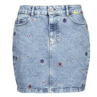 Clothing Women Skirts Desigual LESLIE Blue