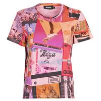 Clothing Women Short-sleeved t-shirts Desigual PROCLAIM Multicolour
