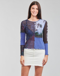 Clothing Women Long sleeved tee-shirts Desigual PATCHAFRICA Blue