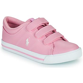 Shoes Girl Low top trainers Polo Ralph Lauren ELMWOOD EZ Pink