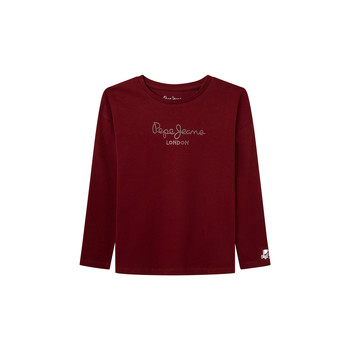 Clothing Girl Long sleeved tee-shirts Pepe jeans NURIA LS Red